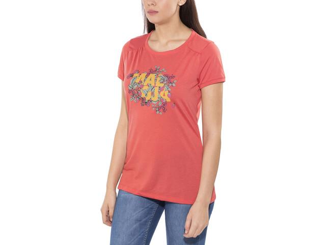 Maloja HalfingM. Multi - Camiseta manga corta Mujer - rojo/Multicolor